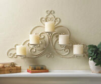 Vintage-Style Scrollwork Candleholder Wall Sconce Brand New