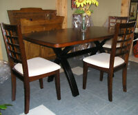 Condo size tables & DINING CHAIRS: sets of 4-6+, black, red, whi