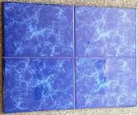 CLEARANCE 132sf - 8x6 Lux Blue Ceramic Tile $0.69 Sq Ft