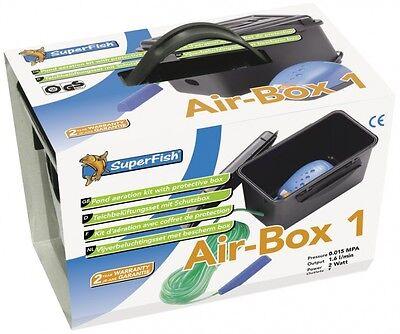 Air Box 1 Teichbelüftungsset Sauerstoffpumpe Teich Eisfreihalter Koi