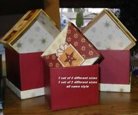 Christmas Themed Gift/Storage Boxes Lot