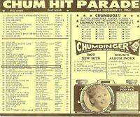 Four CHUM Charts - December 21 & 28 '64 & January 4 &11 '65