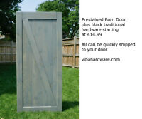 Barn door Hardware - black or stainless