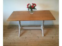 Shabby chic pedestal dining table