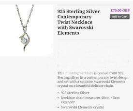 STERLING SILVER TWIST NECKLACE