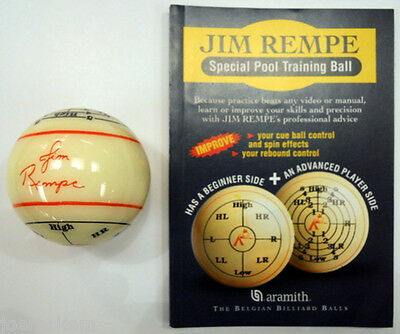 NEW ARAMITH JIM REMPE TRAINING CUE BALL- NOT IN BLISTER PACK - NEW