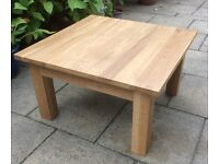 Solid Oak Coffee Table.