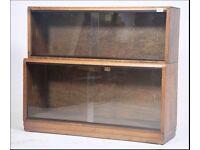 2 X Globe Wernicke Style Library / Lawyer Glazed Bookcases