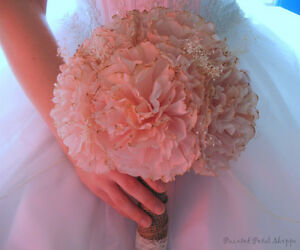Coffee Filter Bridal Bouquet/ Rustic Wedding Flowers