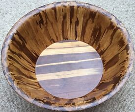 Large Solid Wood Bowl