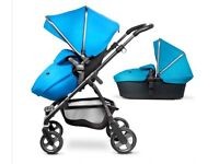 Silver Cross Wayfarer - Sky Blue Buggy, carry cot, car seat and ISO Fix
