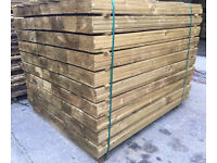 🌳Pressure Treated Wooden/Timber Feather Edge Fencing Boards/Panels/Pieces🌳Various Sizes