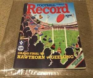 1989 Hawthorne and Geelong football record Bell Post Hill Geelong City Preview