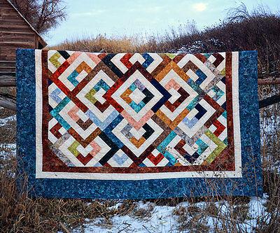 Diamond Double Pixie Party 16 Batik PRECUT Fabric Quilt Kit 65.5 x 77.5