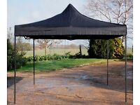 3m x 3m Black heavy duty pop up gazebos