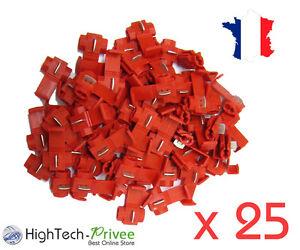 connecteur rapide autod nudant d rivation manchon lectrique rouge lot 25 ebay. Black Bedroom Furniture Sets. Home Design Ideas