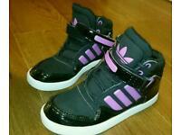 Girls Size 3 Hightop Trainers Adidas