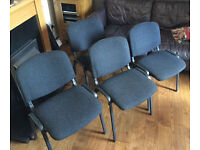 4x office stacking chairs in good clean condition