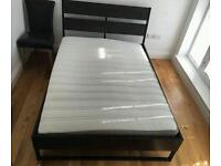 Ikea double bed with mattress £80 delivered