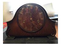 ANTIQUE SMITHS ENFIELD EDWARDIAN WALNUT MANTEL CLOCK NO KEY