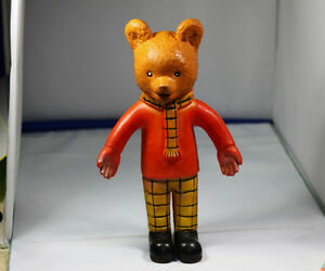 Vintage Rupert The Bear TV collectable plastic 1960-70s bear