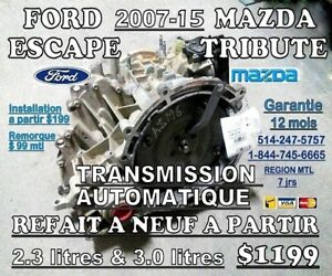 FORD ESCAPE & MAZDA TRIBUTE TRANSMISSIONS 2005-2015 2X4-4X4