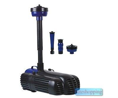 Pompa per fontana a getti d'acqua e vasca 85 w 3 testine per effetti tre getti
