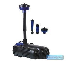 Pompa per fontana a getti d acqua e vasca 85 w 3 testine for Vasca per tartarughe d acqua ebay