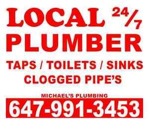 Barrie plumber ** 647-991-3453 **