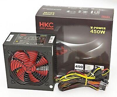 450 WATT HKC® GAMER PC Computer ATX Netzteil SATA PCI-E SILENT 12cm Lüfter 120mm