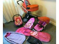 Quinny Buzz 3 complete travel set with all accessories & extras. Excellent condition ready to use.