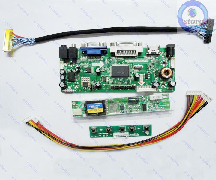 LCD Controller Adapter Converter Diy Kit for 1920X1200 LTN170CT01 HDMI+VGA+DVI