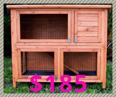 Extra Large 2 storey Rabbit Hutch with Legs and slide out drawers