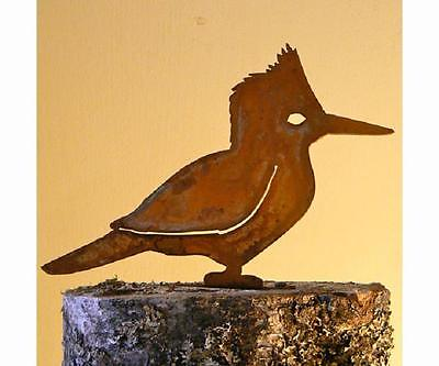 Kingfisher Bird Rusty Metal Silhouette Accent for Inside or Out, Porch, Fence