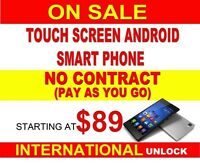 NO CONTRACT PAY AS YOU GO SMART PHONES ON SALE