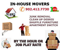"""""""IN-HOUSE MOVERS"""" WE OFFER OUR SERVICES 7 DAYS A WEEK"""