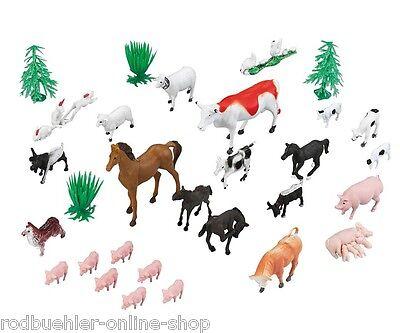 Bauernhoftiere aus Plastik Tiere Farmtiere 30 Teile Spielfiguren Haustiere