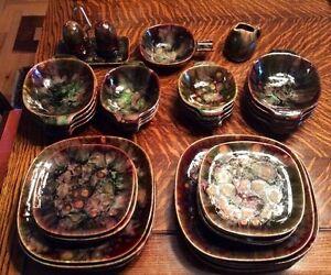 Ensemble vaisselles rétro poterie de Beauce Chalvignac