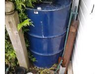 A big blue barrel