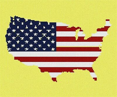 America Stars And Stripes Needlepoint Kit or Canvas ()