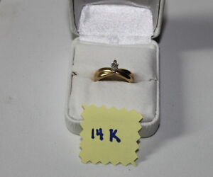 14K gold solitaire engagement ring marquise cut with appraisal Kingston Kingston Area image 7