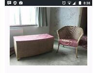 Ottoman and chair (upcycle project)