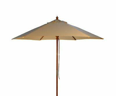 Brackenstyle Parasol Wood Pulley 2.5m, Natural Color
