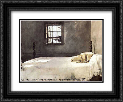 Master Bedroom, c.1965 2x Matted 23x20 Framed Art Print by Andrew -