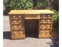 Vintage Rustic Stripped Pine Desk