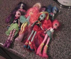 My little pony Equestrian Girls dolls x8