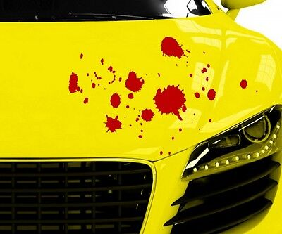 ropfen Horror Flecken Halloween Aufkleber Auto 5O022 (Blut Tropfen)