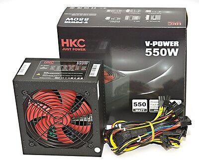Teile, Computer-netzteil (550 WATT HKC® W GAMER PC Computer ATX Netzteil SATA PCI-E SILENT 12 cm Lüfter)