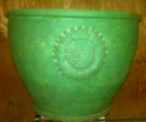 Round Clay Terra Cotta Pot