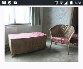 Ottoman and chair (could be recovered)